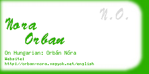 nora orban business card